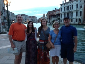 The McNairs with us in Venice